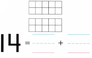 Envision Math Common Core Grade K Answers Topic 10 Compose and Decompose Numbers 11 to 19 11.6