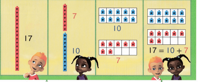 Envision Math Common Core Grade K Answers Topic 10 Compose and Decompose Numbers 11 to 19 7.3